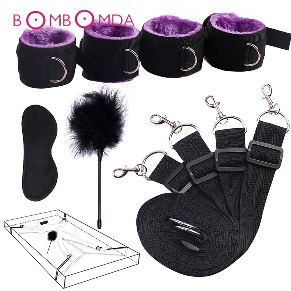 SM товары для секса кровать БДСМ Связывание невольница система флирта взрослые секс игрушки товары для женщин пары эротические аксессуары