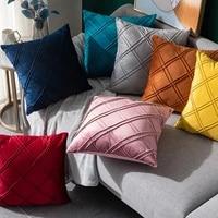 45x45cm solid color velvet pillow case ins style home decor cushion cover suede car pillow case customizable