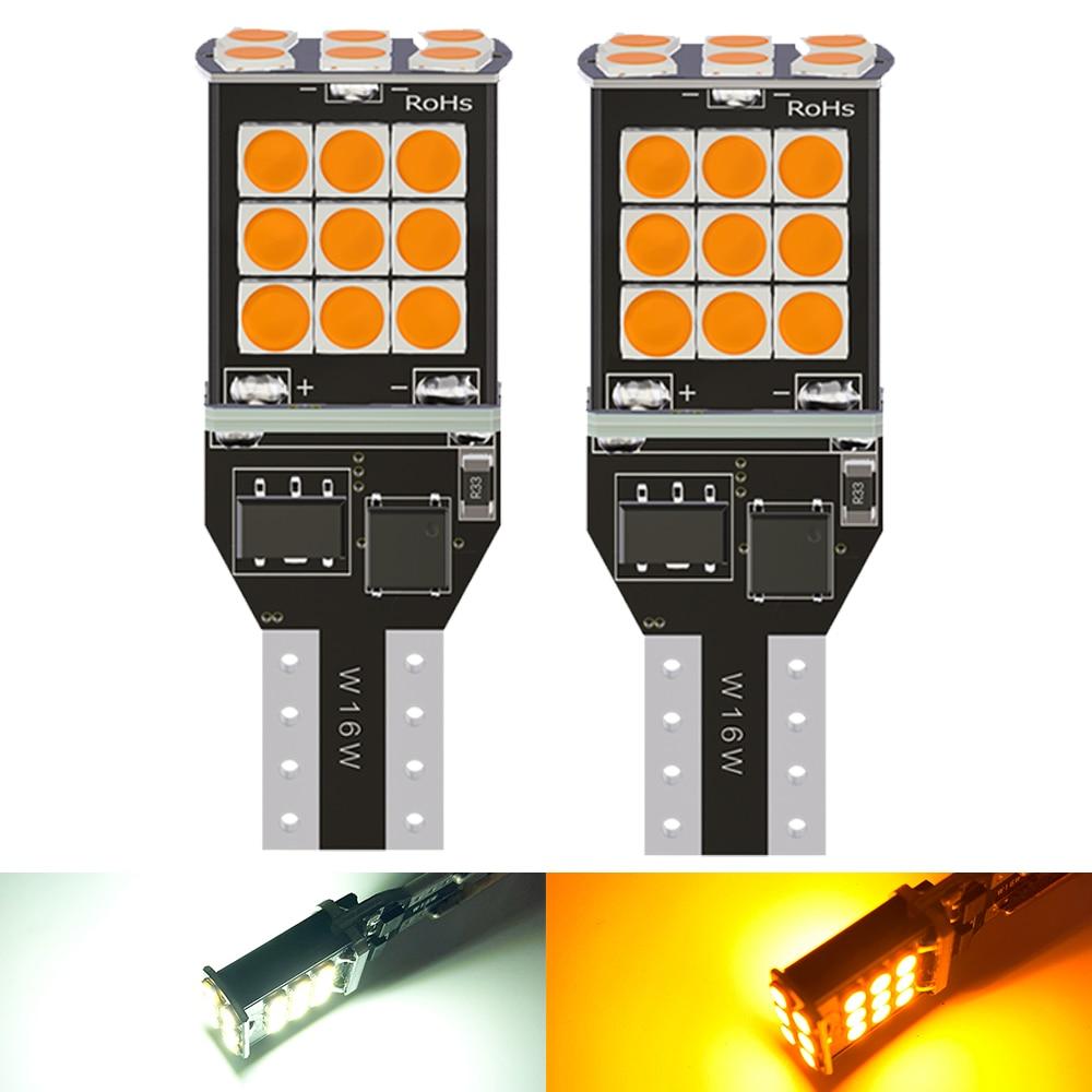 2x T15 светодиодный W16W лампочки Canbus OBC Error Free светодиодный запасной светильник 921 912 W16W светодиодный лампы заднего хода автомобиля Лампа ксенон ...