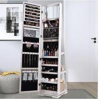 Rotating full body mirror cloakroom floor mirror modern simple fitting mirror jewelry storage locker dressing mirror