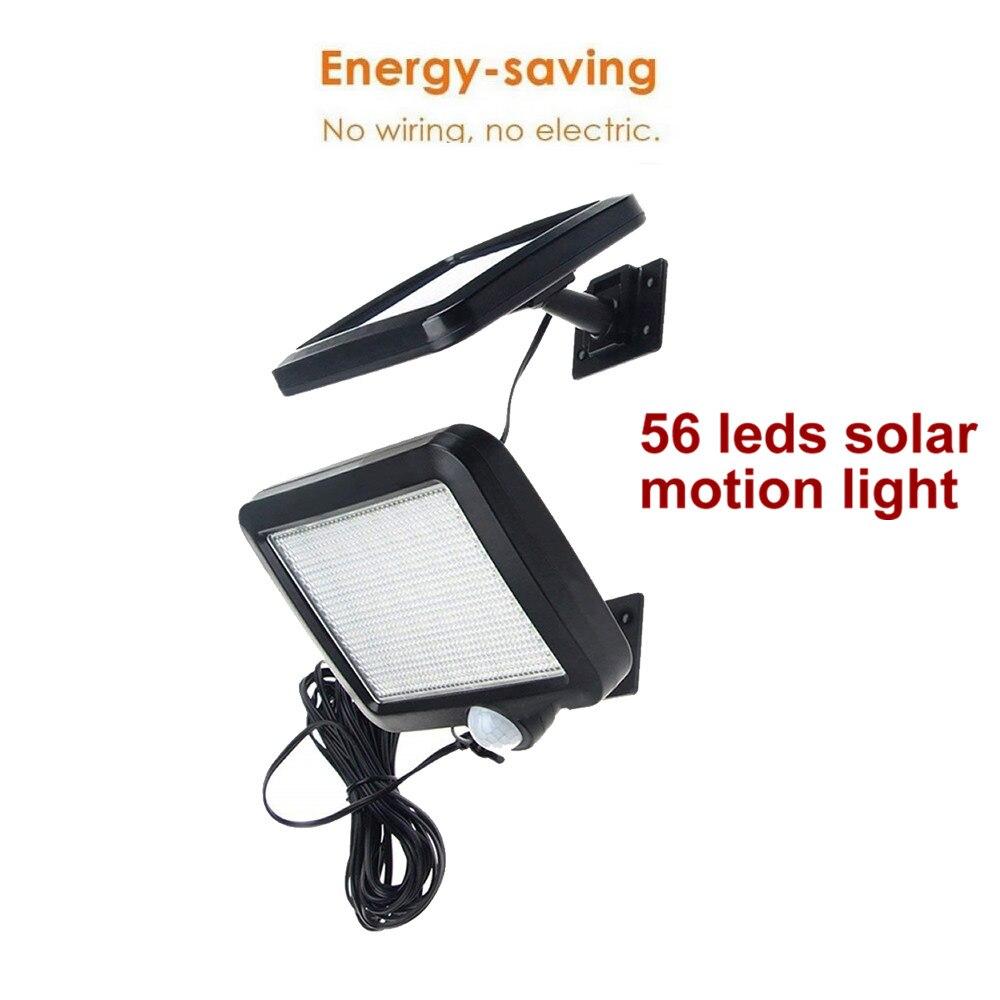 56 led solar light split panel dimmable mode solar lamp garden yard door garage patio lantern security deck fence decor outdoor