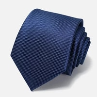 brand new deep blue 8cm wide tie for men high quality business zipper necktie fashion formal suit polyester silk gift box