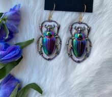 Scarab Earrings Beetle Earrings Insect Earrings Scarab Jewelry Beetle Jewelry Insect Jewelry Dangle Earrings Drop Earrings