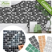 Funlife     carrelage Imitation marbre en PVC  10 15 20 25 30CM  impermeable  auto-adhesif  pour cuisine  salle de bains  mosaique  Art mural