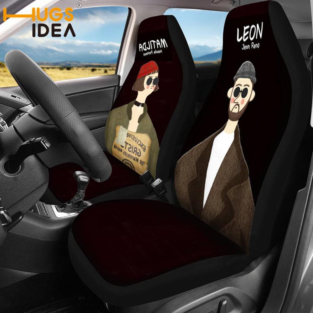 Hugside الكرتون غطاء مقعد السيارة SUV الجبهة غطاء مقعد ورقة القذرة/الغبار حالة سيارة مطاطا البوليستر غطاء مقعد s