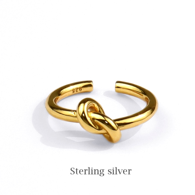 Минималистичные-Регулируемые-кольца-из-стерлингового-серебра-925-пробы-с-узлом-для-женщин-и-девушек-женское-ювелирное-изделие-на-палец-под