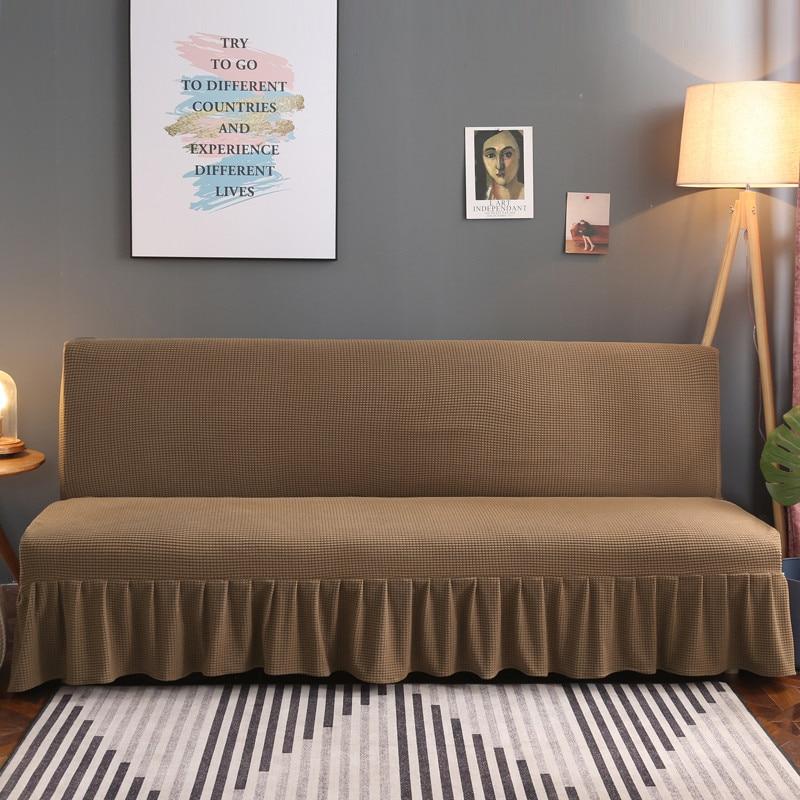 غطاء أريكة عالمي قابل للتمدد مع تنورة بدون مسند للذراعين ، غطاء أثاث لغرفة المعيشة ، مقعدين/ثلاثة/أربعة مقاعد
