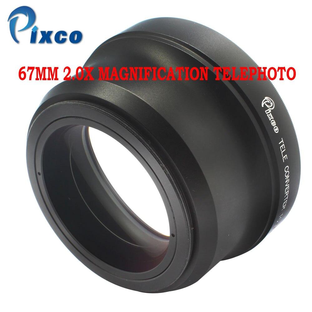 Pixco 67MM  2 0X thread lens Magnification Teleconverter Telephoto Lens for canon nikon sony PENTAX Olympus DSLR DV SLR Camera