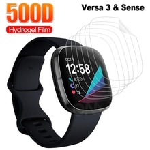 Full Coverage Screen Protector for Fitbit Versa 3 & Sense Soft Hydrogel Protective Film for Fitbit I