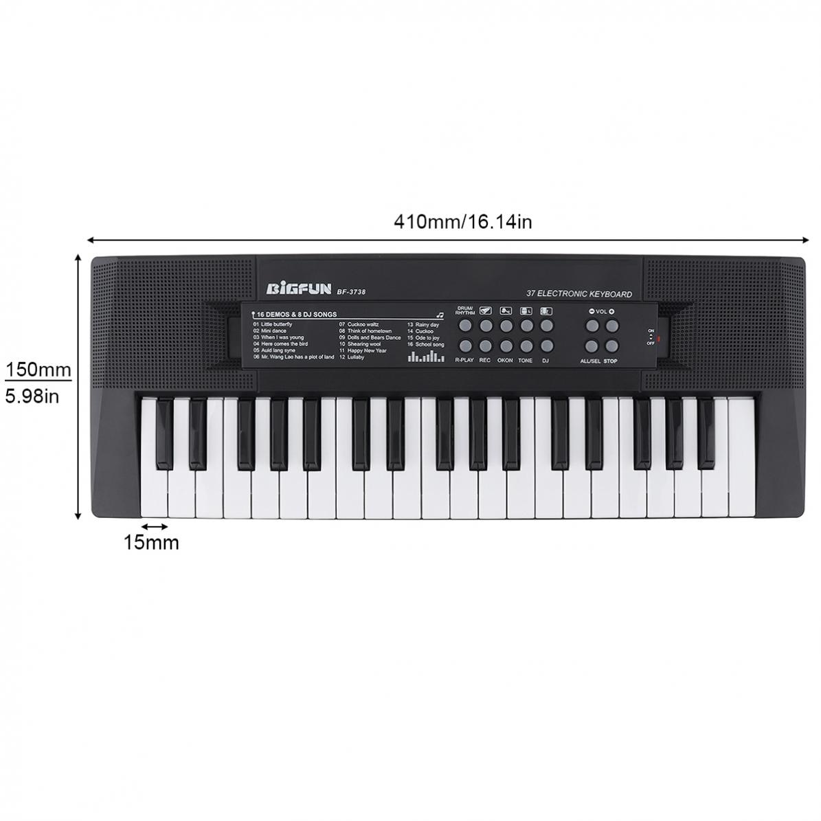 37 Keys Electronic Organ  Electronic Keyboard Piano Digital Music Key Board with Microphone Children Gift Musical Enlightenment enlarge