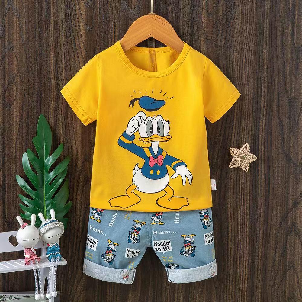 AliExpress - Baby Sleepwear Summer Pajamas Disney Clothing Mickey Mouse Teenage Boy Clothes Shortama Kids Set Marie For Girls Roddler Pjs