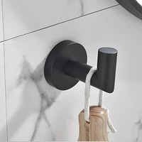 ginmino stainless steel wall hooks for kitchen and bathroom storage housekeeper on wall white accessories towel hooks