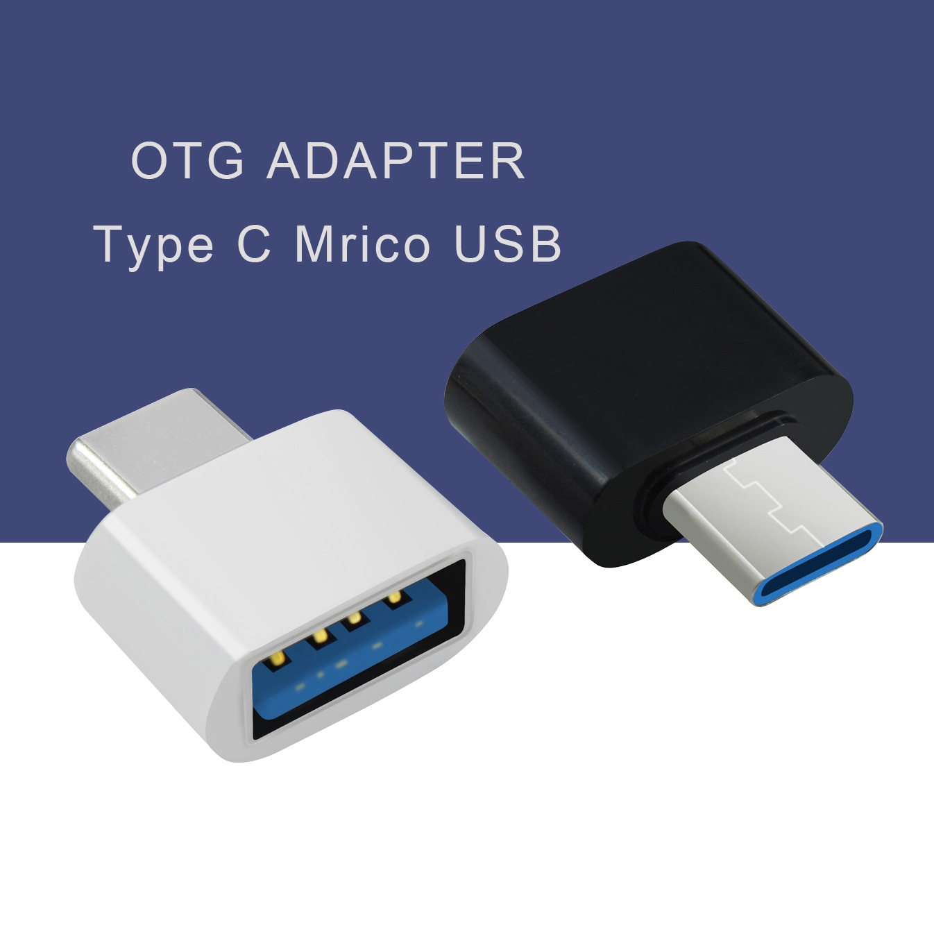 1/5 PCS New Universal Mini Micro to USB 2.0 OTG Adapter Connector for Android Mobile Phone USB2.0 Ty