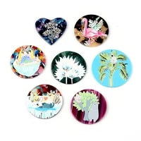 2pcslot round animal flowers acetate sheet hand made earrings making connectors diy pendant jewelry findings components charms
