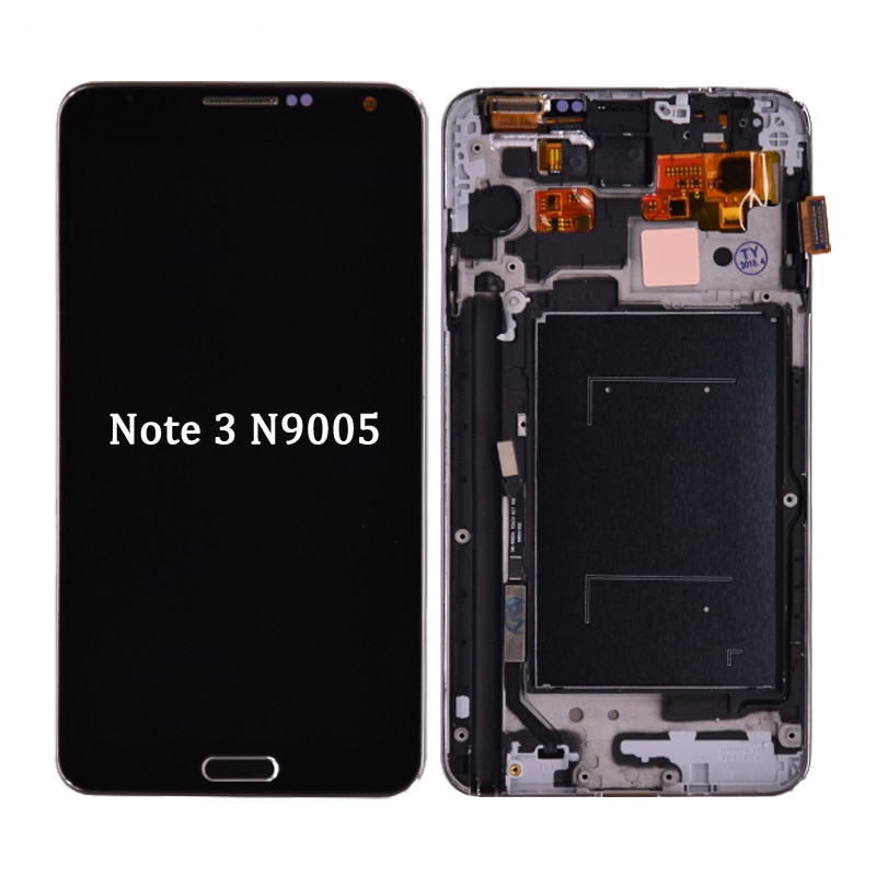 Para Samsung Galaxy Note 3 III N9005 pantalla LCD con montaje de digitalizador con pantalla táctil con marco envío gratis