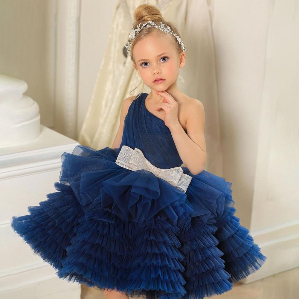 Тюлевое многослойное Цветочное платье для девочек, элегантное женское платье, милое бальное платье, платья принцессы, лидер продаж 2021