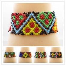 Best lady Boho Beaded Bracelets New Elastic Bangle Unique Gifts for Women Wedding Charm Bracelet Multi Color