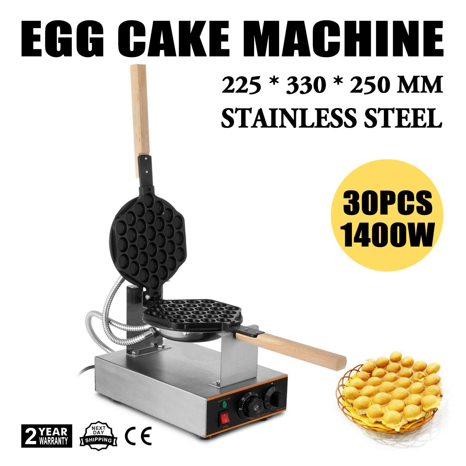 Jam Bolha Waffle Ovo Hong Kong Açúcar Elétrica de 220 Volts 1400 Watts