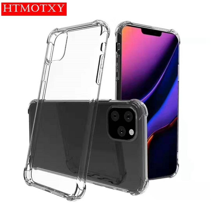 A prueba de golpes a prueba de aire caso para iphone 11 estuche de silicona transparente para iphone XR X XS X 11 Pro Max 7 8 6 Plus SE 2 2020 TPU caso