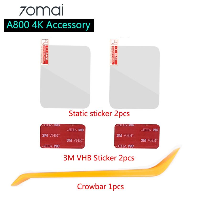 Набор аксессуаров для видеорегистратора 70mai 4K A800, статическая наклейка 3M, пленка и статическая наклейка s, подходит для автомобильного видео...