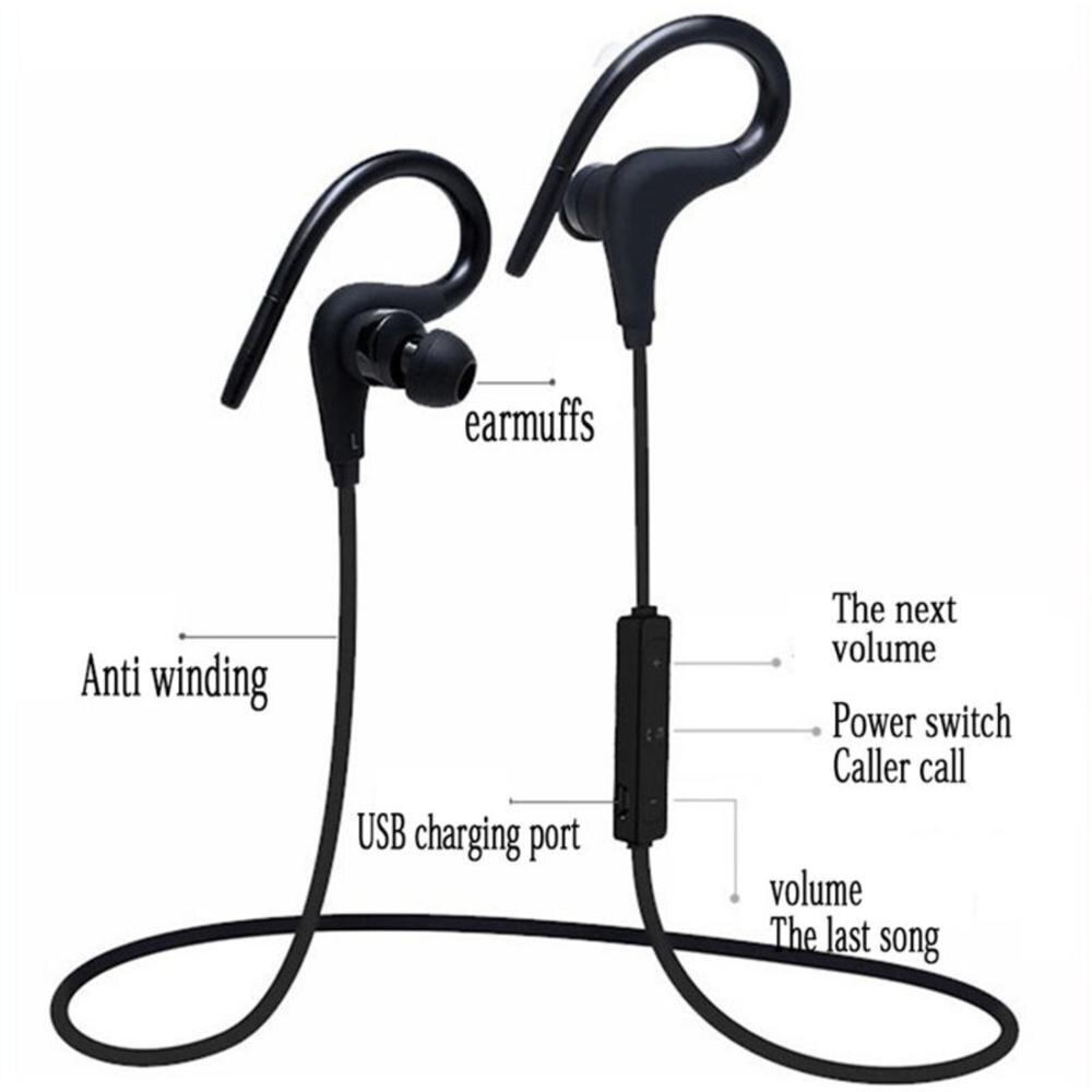 Bluetooth Earphones Wireless Headphones Sport New Style Hook Neck Waterproof Earbuds Mic Noise Canceling Bluetooth Headset enlarge