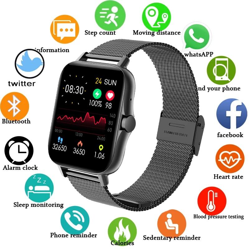 AliExpress - ZW23 New Smart watch Men Smartwatch Women Bluetooth Call Watch Waterproof Fitness Tracker Music Control Body Temperature Measure