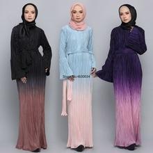 Nouveau Eid moubarak mode musulmane dubaï Abaya turquie Hijab Robe Caftan Caftan Islam vêtements Abayas pour les femmes Robe dégradé de couleur