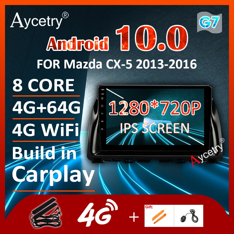 1280*720P 64G Android 9,0 Auto Carplay de Radio para Mazda CX5 CX-5 2013-2016 GPS de navegación Multimedia estéreo pantalla NO reproductor de DVD