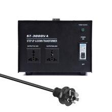 3000 واط ذكي كفاءة تنحى محول الطاقة 100 فولت-220 فولت الأجهزة الكهربائية المنزلية محول جهد كهربي