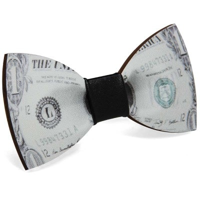 Exclusive custom Starry sky poker dollar Black Pattern bowtie ties for men Wooden bow  Wedding Bowtie