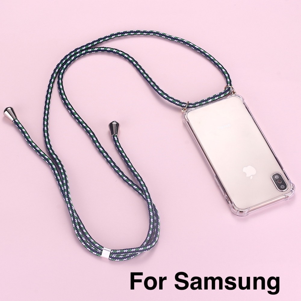 Strap Cord Chain Phone Tape Necklace Lanyard Mobile Phone Case for Carry to Hang For SAMSUNG S8 S9 S