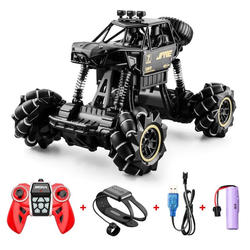 Alloy remote control transformation car  wheel gesture induction twist car charge boy toy off-road car birthday present 85797