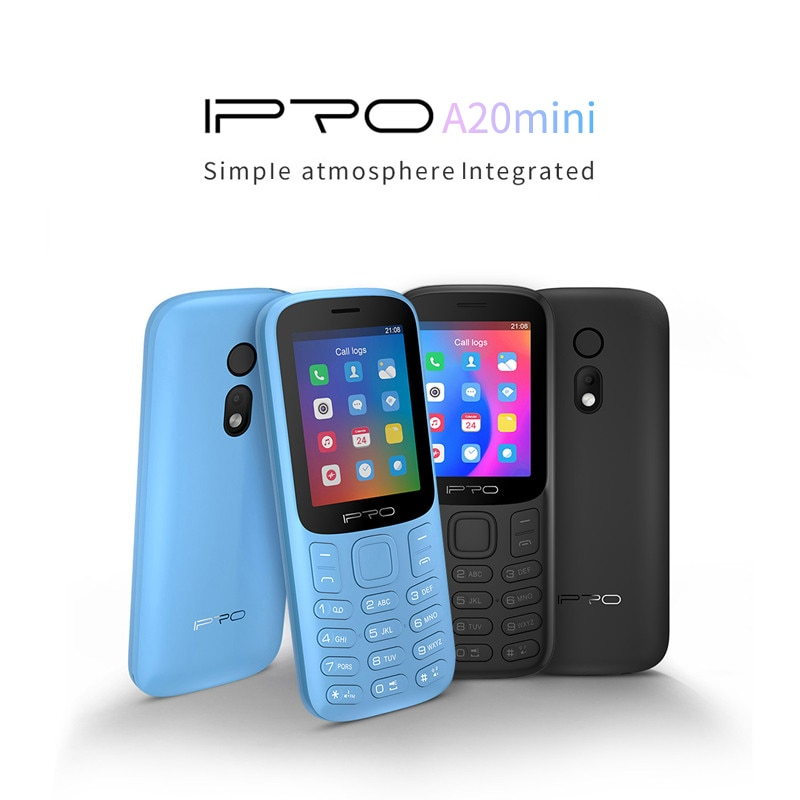 Unlocked Destaque Telefone IPRO A20Mini 2G Feature Mobile Phone Dual SIM 600mAh with Flashlight GSM