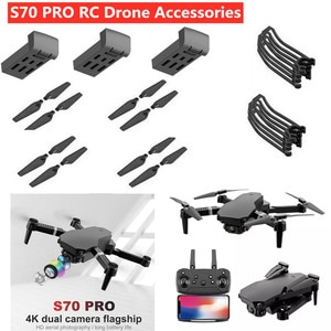 S70 PRO 5G 4K RC Drone Spare Part 3.7V 600mAh Battery Propeller USB S70 Pro RC Drone Accessories S70PRO Battery S70 pro Blades