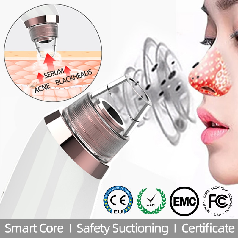 Blackhead Remover Vacuum Hot Compresses Pore Cleaner Suctioning Nose T Zone Acne Sebum Firming Skin