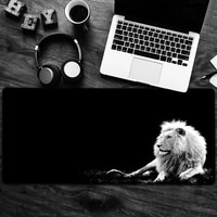 lion head mouse pad large game computer keyboard office long table mat kawaii desk officehome decoration antislip
