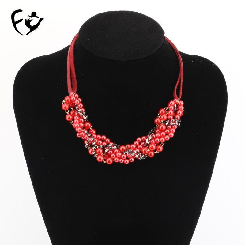 Una variedad de colores del sistema clásico collar de cuerda corta de piel Popular accesorios de moda europea y americana