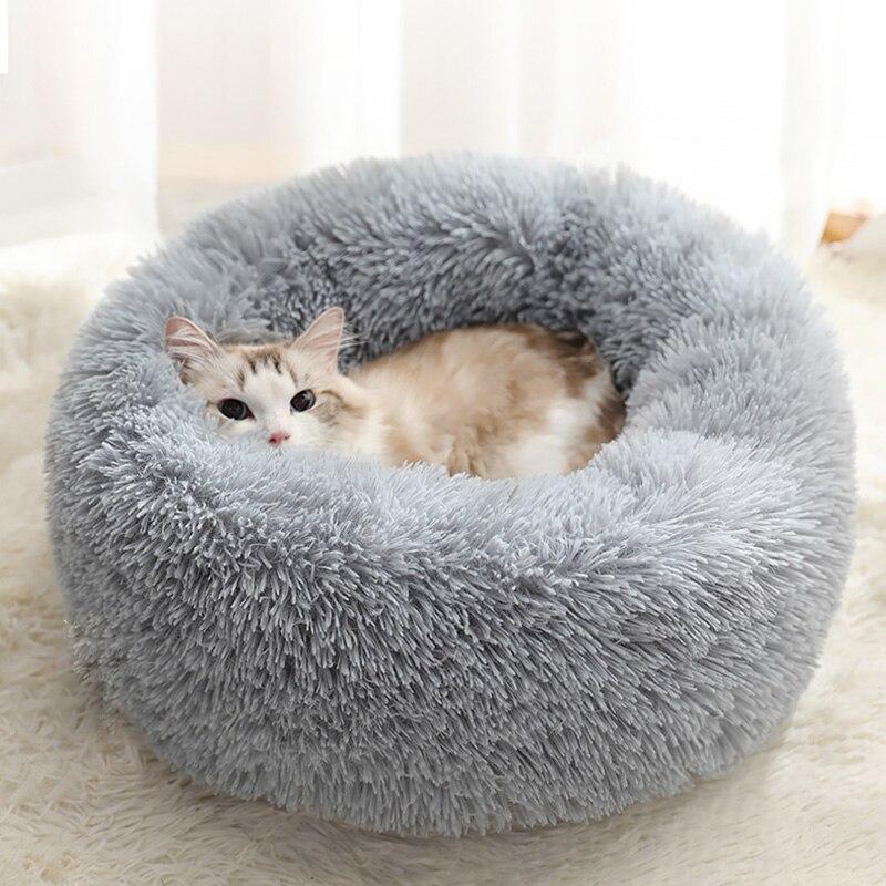Cama redonda para perro, lavable, larga, de felpa, cálida, para perro, perrera, súper cachorro suave, cojín para perro, cama para perro, Chihuahua, cesta para perro, cama para mascota
