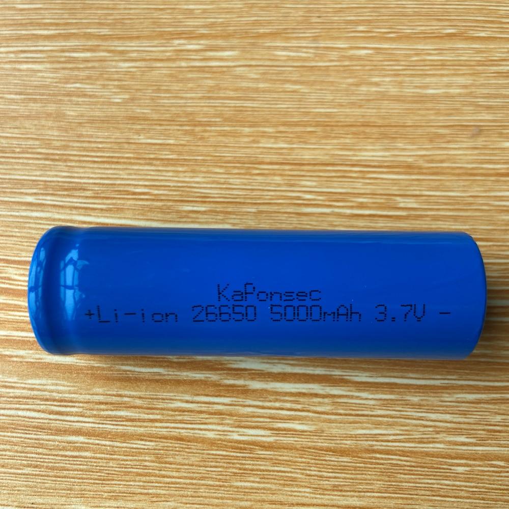 KaPonsec 4PCS 26650 5000mAh 3.7V Li-Ion Rechargeable Battery For LED Flashlight