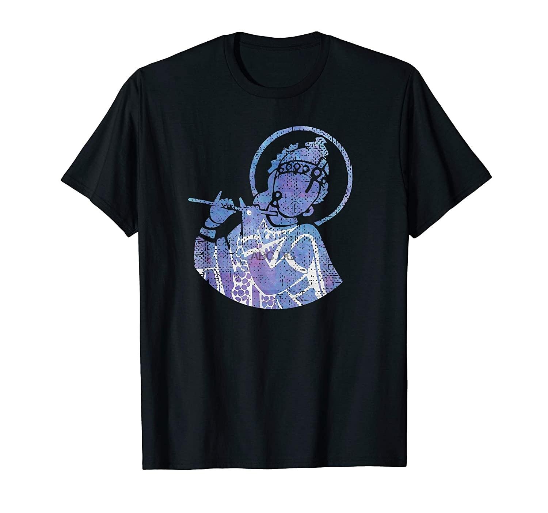 Camiseta o divino senhor krishna flutista (1)
