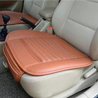 general motors protective seat cover breathable pu leather bamboo charcoal car interior seat cover cushion auto accessories