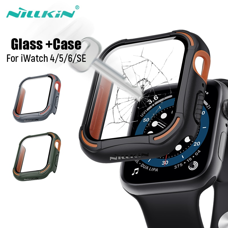 NILLKIN For Apple Watch Case 44mm 4/5/6/SE iWatch Case Screen Protector+Bumper Accessories For Apple
