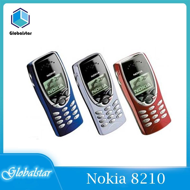 هواتف محمولة أصلية مجددة من نوكيا 8210 غير مقفلة 2G Dualband GSM 900/1800 GPRS هواتف محمولة تقليدية رخيصة شحن مجاني سريع
