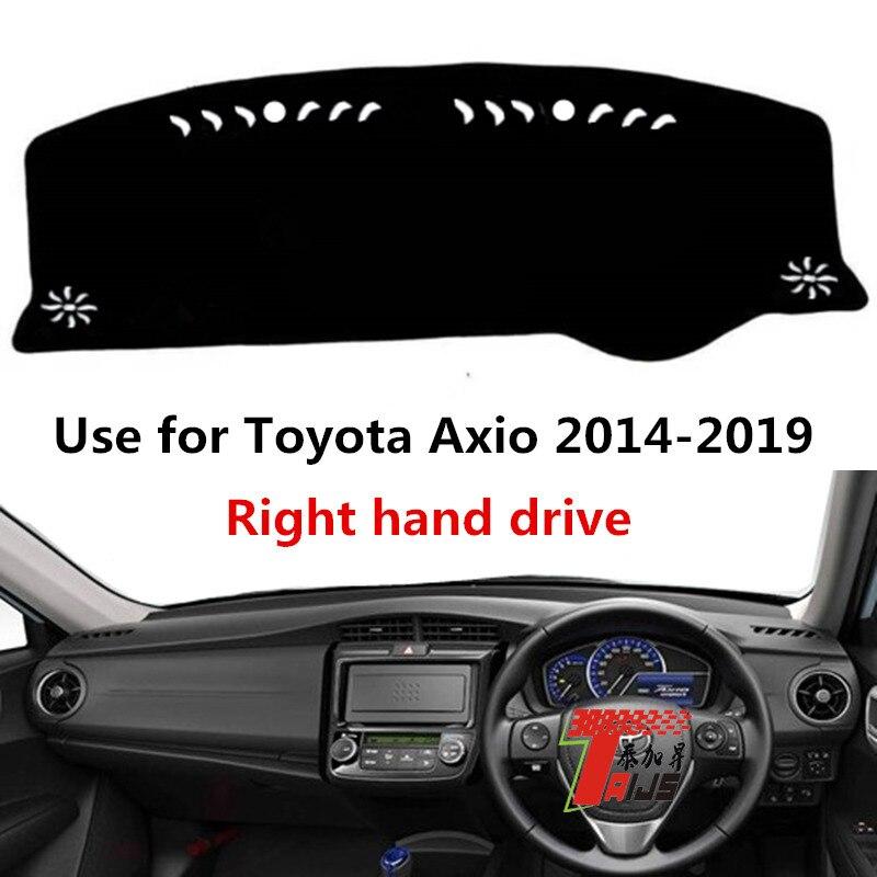 TAIJS mano coche tablero para Toyota Corolla Axio 2014-2019 Auto tablero proteger mat para Toyota Axio
