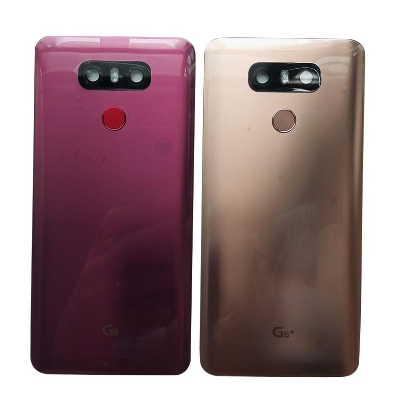 Para LG G6 LS993 US997 VS998 H870 carcasa trasera de cristal carcasa trasera con Sensor de huellas dactilares