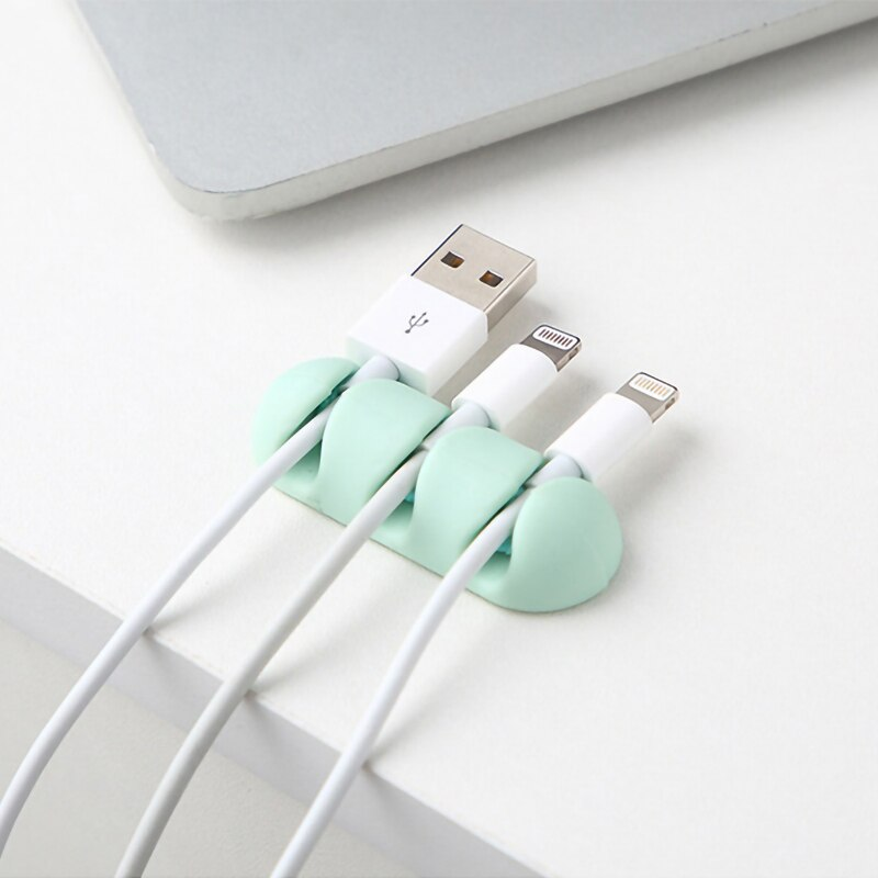 2 unids/set accesorios de viaje creativos de Gel de sílice Cable divisor auricular Protector USB soporte de teléfono accesorio Packe organizador