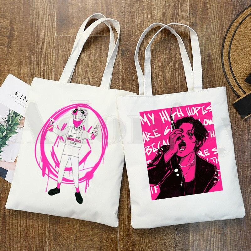 Yungblud Доминик Харрисон графический принт сумки для покупок для девочек модная повседневная упаковка ручная сумка