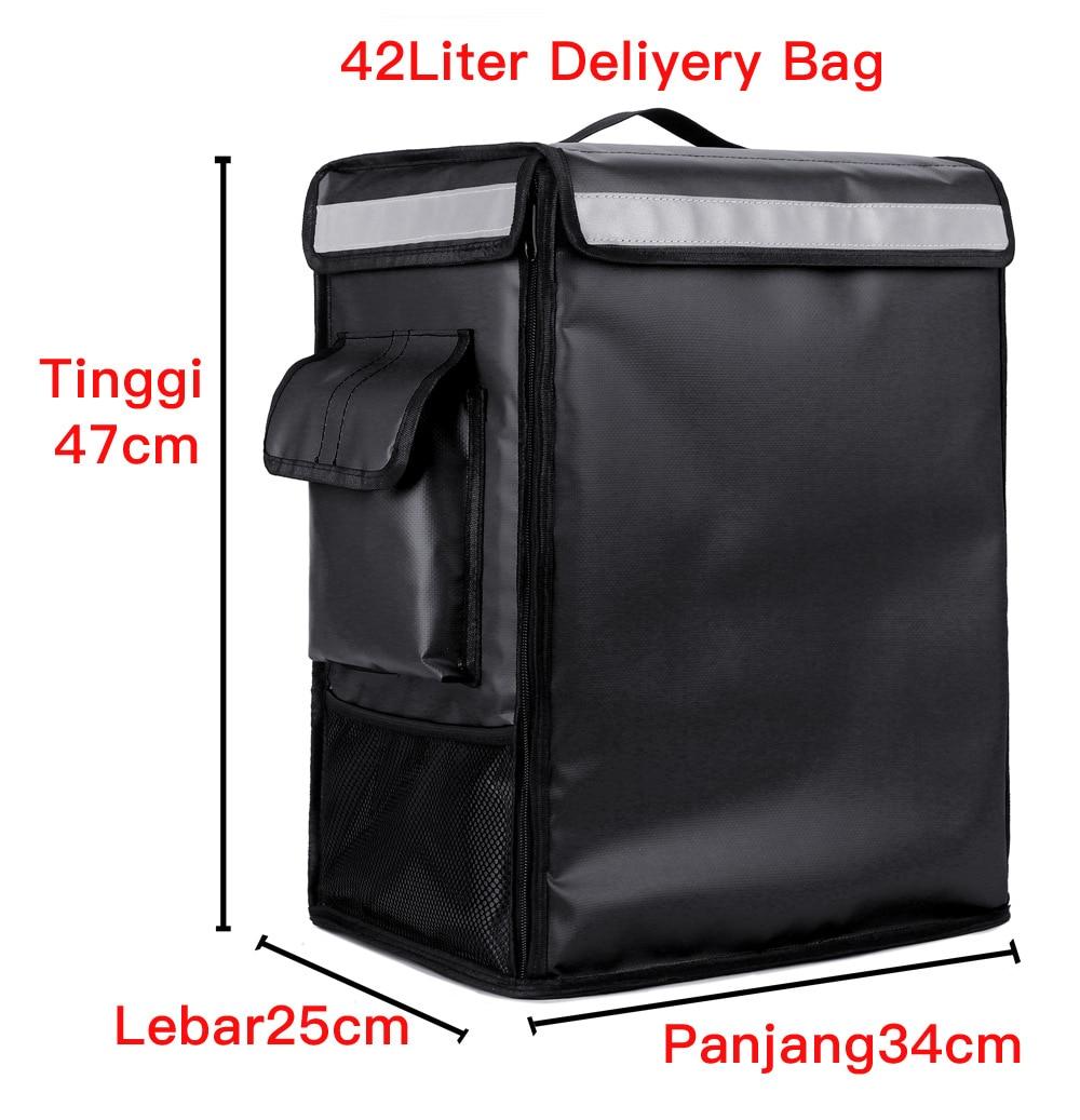 Ice Bag 42L Refrigerator Backpack Cake Pizza Food Delivery Backpack Cooler Picnic Storage Fridge Bag Large Capacity Food Bag