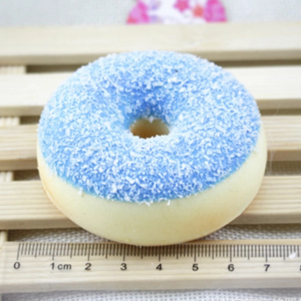 6Pcs/Set Random Color Mochi Squishy Squeeze Stress Reliever Soft Colourful Doughnut Scented Slow Rising Toys Fidget Toy Gift Kid enlarge