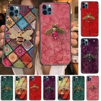 luxury diamond bee little bee anime phone cases cover for iphone 11 pro max case 12 8 7 6 s xr plus x xs se 2020 mini mobile ce